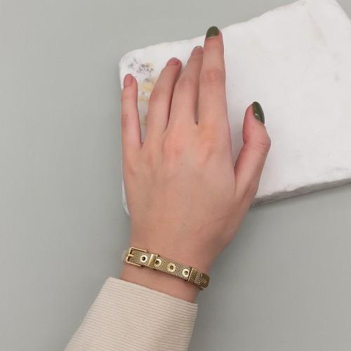Браслет из стали в виде ремешка женский на руку в двух цветах