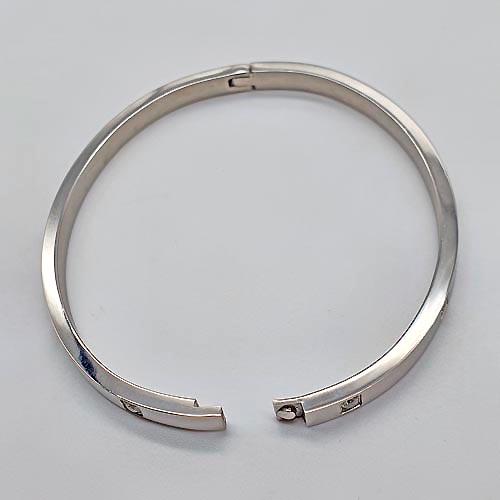 Браслет на руку медицинская сталь, кристаллы циркония Ленора в двух размерах