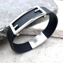 Мужские кожаные браслеты Цвет изделия Черный купить №21