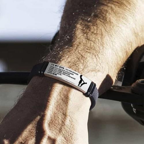 Кожаный браслет на ремешке с пластиной для гарвировки