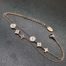 Женский браслет на руку из стали в виде цепочки Розовый клевер