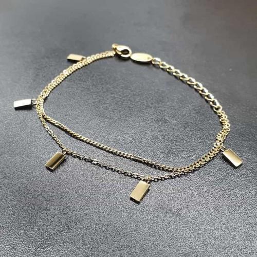 Женский браслет из медицинской стали с геометрическим декором