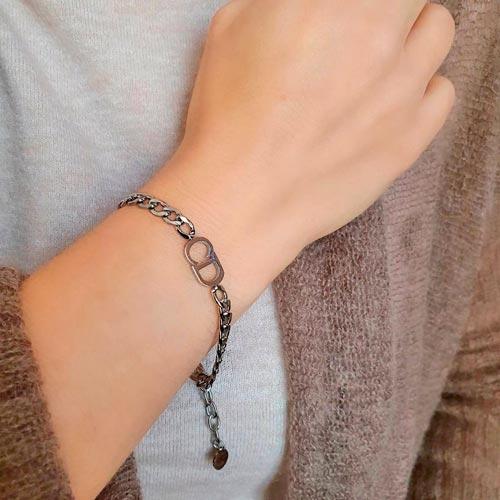 Браслет-цепочка на руку из ювелирного сплава в двух цветах