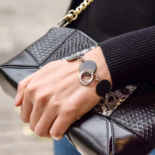 Женский стальной браслет на руку с подвесками