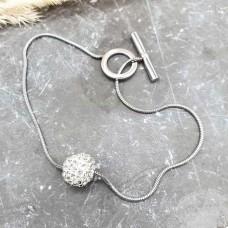 Стальной браслет-цепочка на руку для женщин Прима