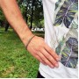 Мужской браслет-цепочка на руку из комбинированной медицинской стали