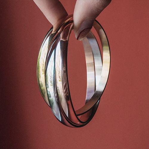 Женский браслет из медицинской стали из трех колец