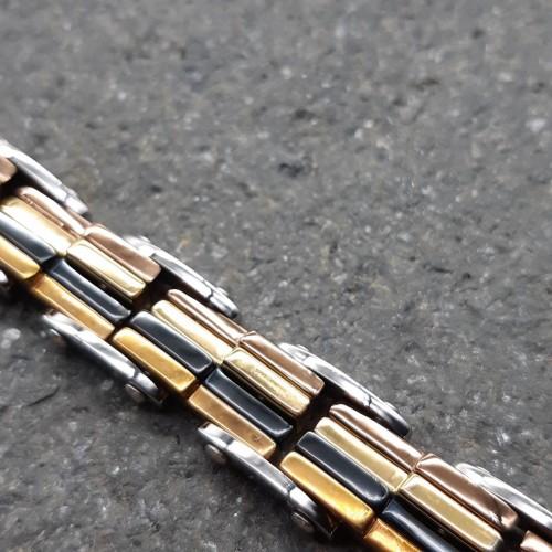 Браслет стальной звеньевой с мульти-покрытием Миракс