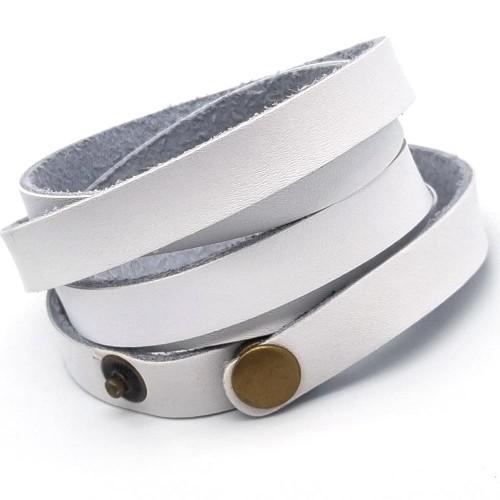 Белый кожаный браслет обмотка на несколько витков Casual unisex