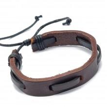 Мужские кожаные браслеты Цвет изделия Коричневый купить №2