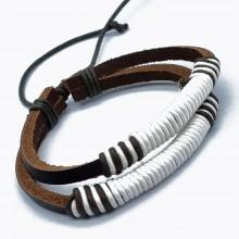 Мужские кожаные браслеты Цвет изделия Коричневый купить №1