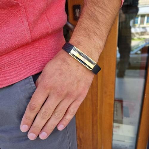 Кожаный браслет БС-3562