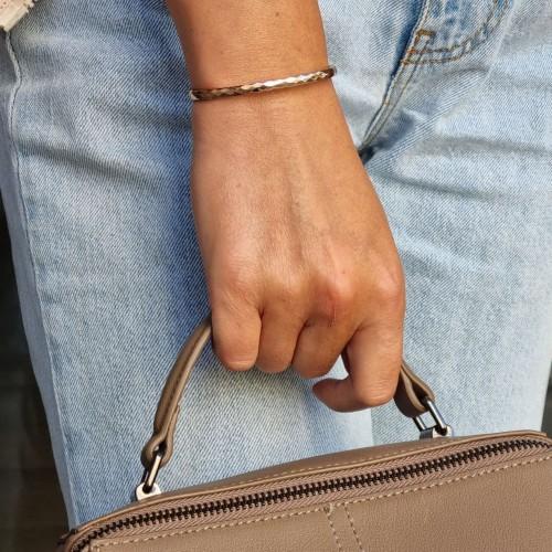 Стильный женский браслет из ювелирной стали Крисс