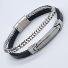 Молодежный комбинированный кожаный браслет для мужчин Стив