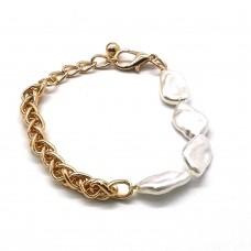 Нежный женский браслет с жемчугом Миллена