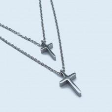 Стальная женская подвеска Кресты