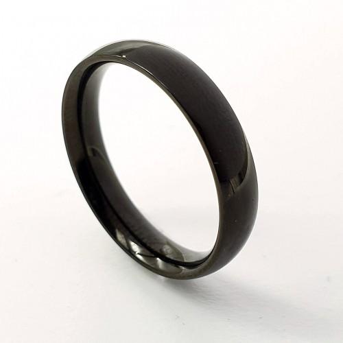 Черное кольцо для мужчин и женщин медицинская сталь 3 мм