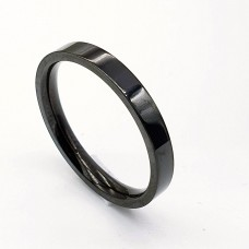 Черное кольцо американка из нержавеющей стали 3 мм