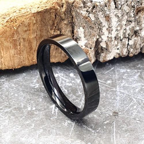 Черное кольцо для мужчин и женщин американка 4 мм