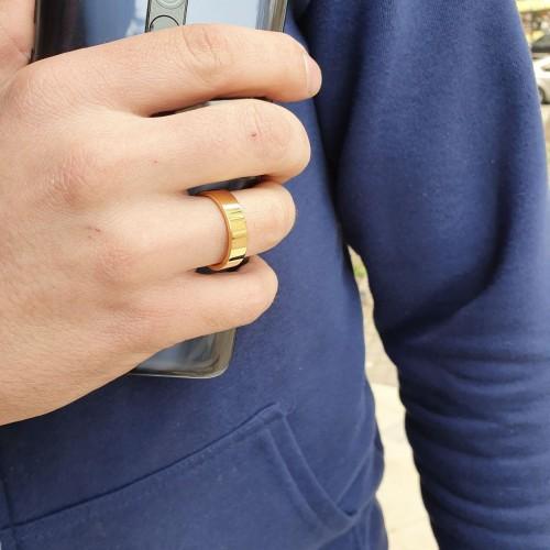 Кольца для пары медицинская сталь американка 6 мм под золото
