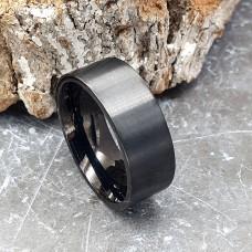 Кольцо из стали унисекс матовое 8 мм