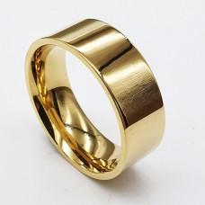 Обручальное кольцо из медицинской стали американка 8 мм