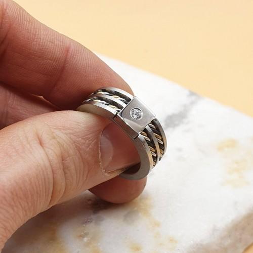 Кольцо из медицинской стали мужское Вубар