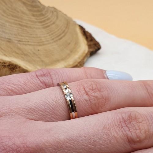 Кольцо из медицинского золота с цирконием Джульетта