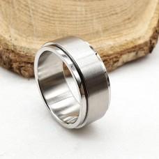 Кольцо антистресс из медицинской стали с оборачивающимся элементом унисекс