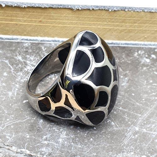 Кольцо с эмалью Багира