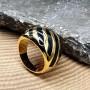 Женское кольцо с цветной эмалью Фируза купить №3