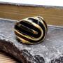 Женское кольцо с цветной эмалью Фируза купить №5