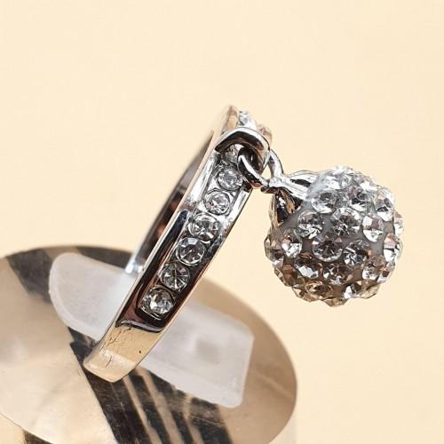 Кольцо для помолвки стальное Лавиния