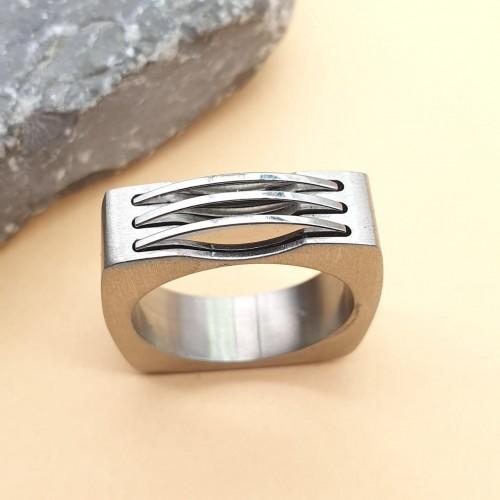 Кольцо стальное мужской Росомаха