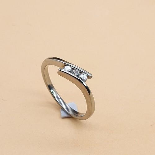 Женское кольцо из стали с цирконием Маргарита