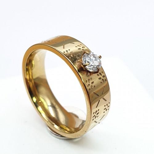 Модное кольцо из медицинского золота Ардель