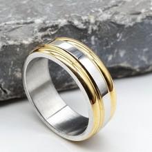 Обручальное кольцо из комбинированной медицинской стали американка 7 мм