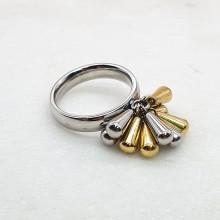Кольцо стальное с необычным декором женское Джули