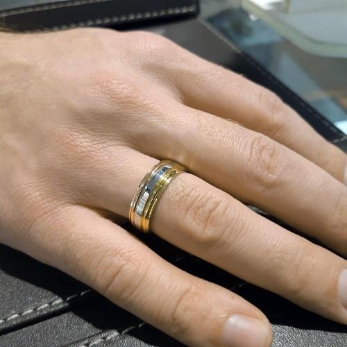 Кольцо обручальное свадебное из стали Единство