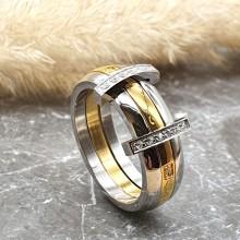 Стальное кольцо женское Рафаэлло