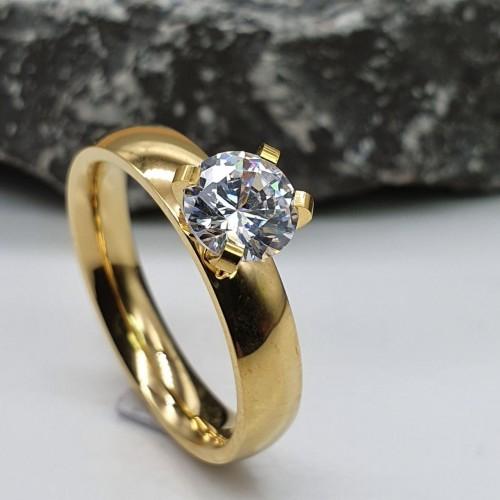 Кольцо для предложения (помолвки) из медицинского золота Екатерина