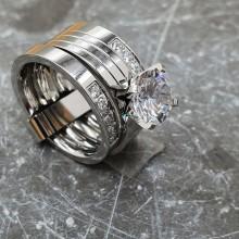 Стальное кольцо женское Голливуд