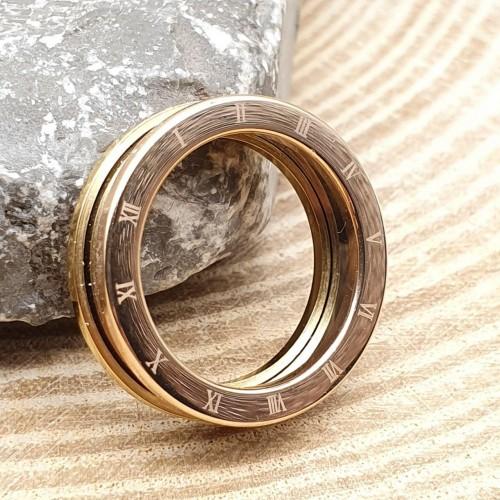 Кольцо стальное широкое женские кольца Три цвета