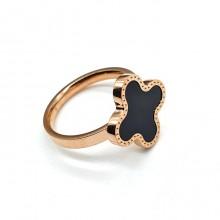 Кольцо из ювелирного сплава с декором клевер