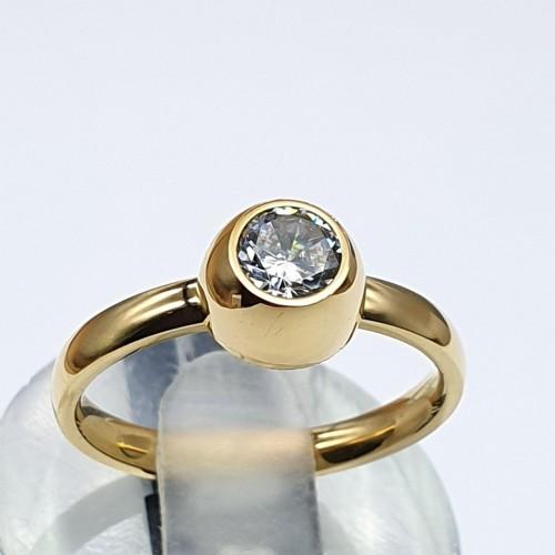 Кольцо для помолвки из медицинского сплава золотого цвета Лаура