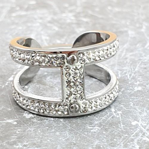 Женское кольцо из стали Династия