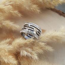 Кольцо с фианитом медицинское золото Таврия
