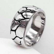 Байкерское кольцо из стали Молния
