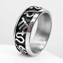 Байкерское стальное кольцо Египет