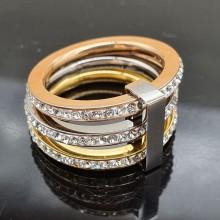Кольцо с фианитом медицинское золото Роксолана